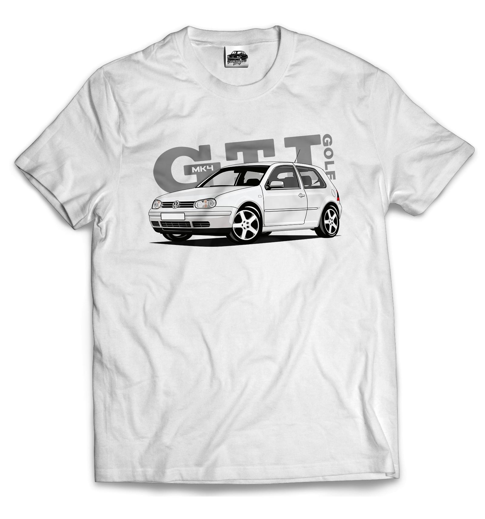 Volkswagen Golf Iv Gti Men T Shirt White
