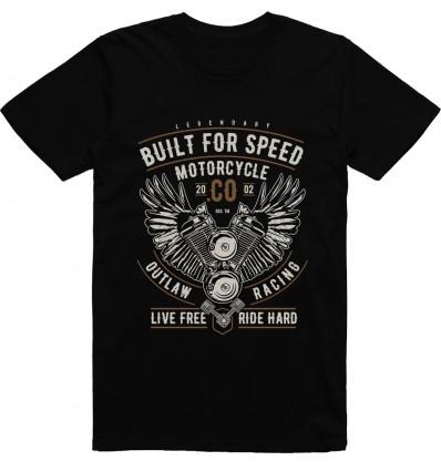 Pánské motorkářské tričko Built for speed motorcycle