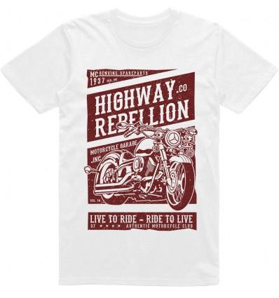 Pánské motorkářské tričko Highway rebelion