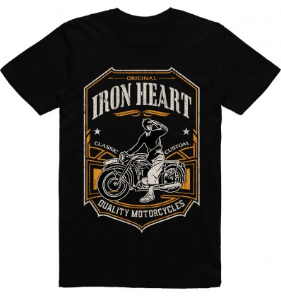 Pánské motorkářské tričko Iron heart