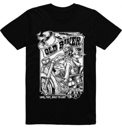 Pánské motorkářské tričko Old biker