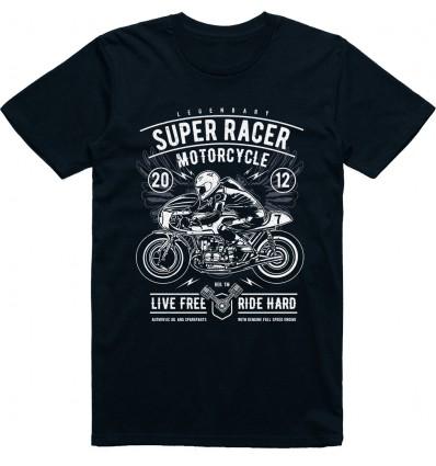 Pánské motorkářské tričko Super racer motorcycle