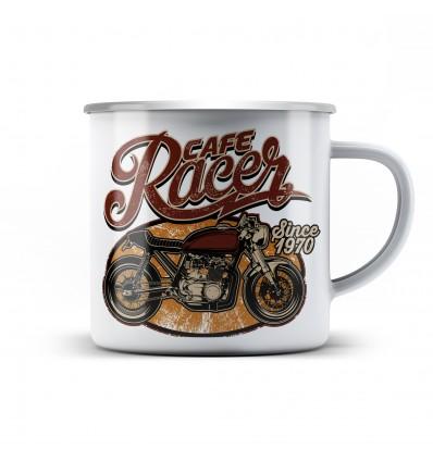 Plechový hrnek pro motorkáře Cafe racer