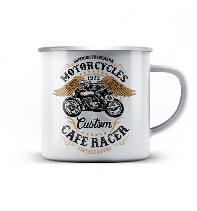 Plechový hrnek pro motorkáře Biker power