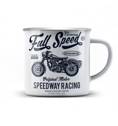 Plechový hrnek pro motorkáře Full speed