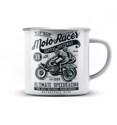 Plechový hrnek pro motorkáře Moto racer classic