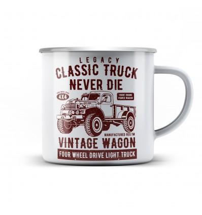 Plechový hrnek Classic truck