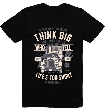 Pánské tričko Think big truck