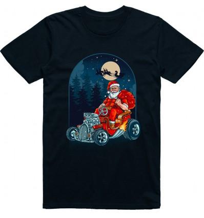 Pánské tričko Hot Rod Santa
