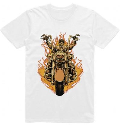 Pánské motorkářské tričko Biker skull