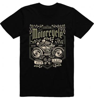 Pánské motorkářské tričko Skull motorcycle