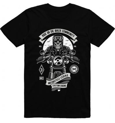Pánské motorkářské tričko Ride or die biker