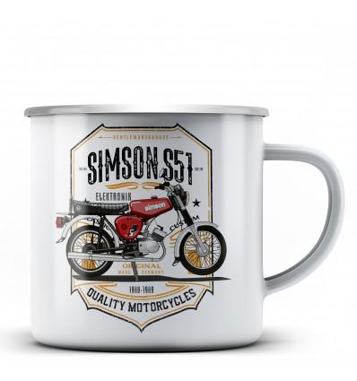 Simson S51 Elektronik hrnek - plechový