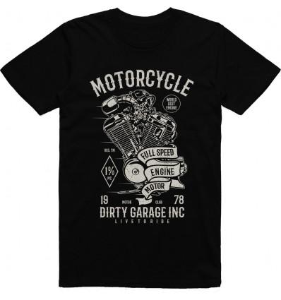 Pánské motorkářské tričko Motorcycle full speed engine