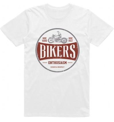 Pánské motorkářské tričko Bikers enthusiasm