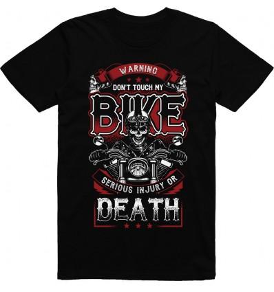 Pánské motorkářské tričko Dont touch my bike