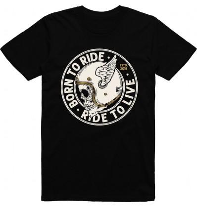 Pánské motorkářské tričko Skull Helmet
