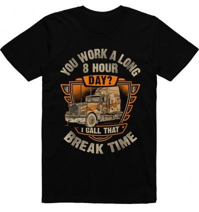 Pánské tričko Trucker break time