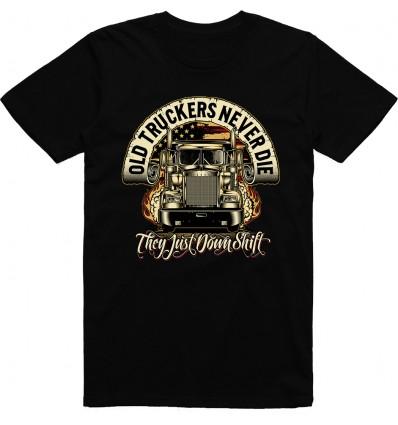 Pánské tričko Old truckers never die